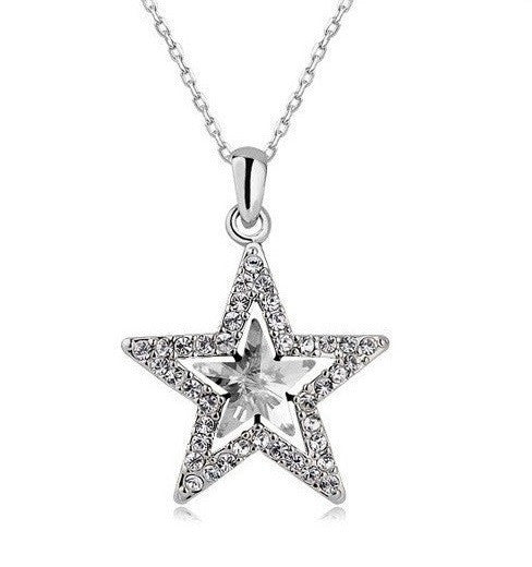Silver Plated Star Necklace