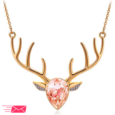 Gold Plated Deer Necklace - 1