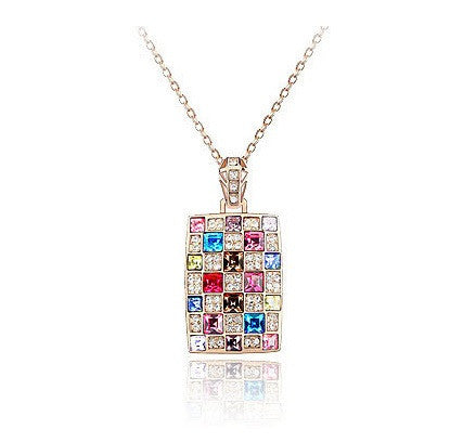 Colorful Rectangle Necklace - 1