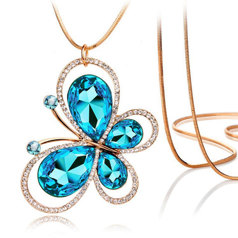 Butterfly Gold Plated Necklace - 1