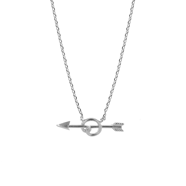 Love Struck Dainty Silver Necklace