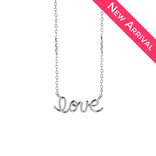 Love Dainty Silver Necklace