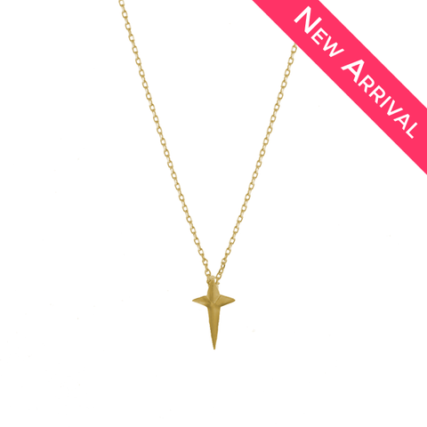 Shining Star Dainty Gold Necklace