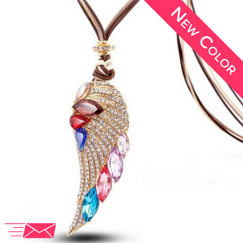Summer Angel Wing Long Necklace - 1