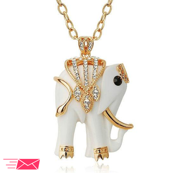 White Elephant Necklace - 1