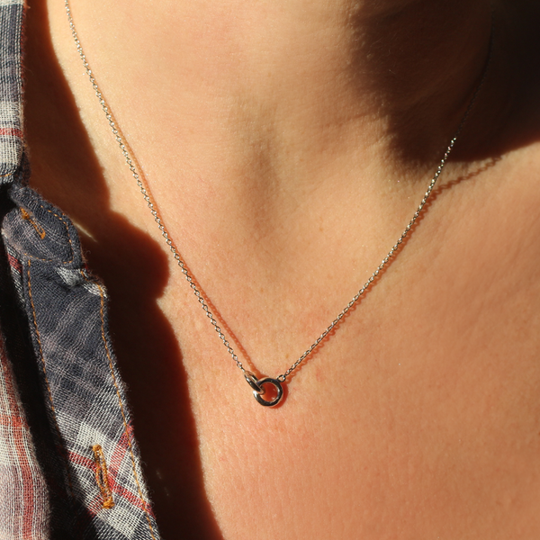 Together Always Dainty Silver Necklace