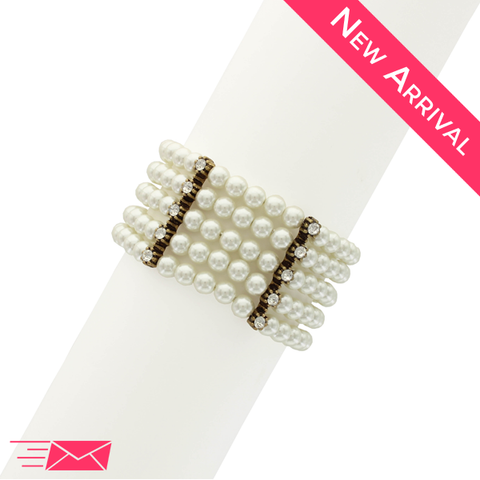 Pearls in a Row Bracelet - 1