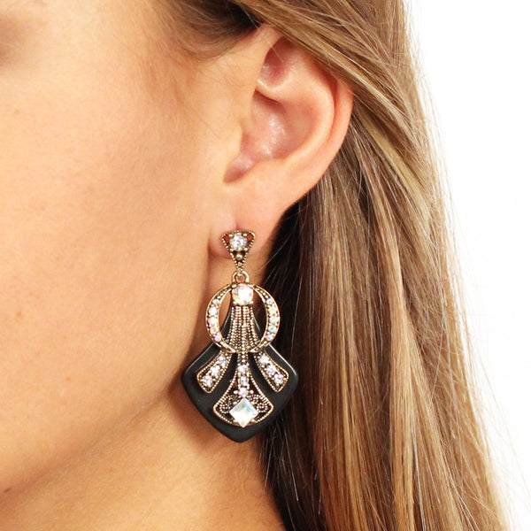 Deco Crystal Earrings - 3