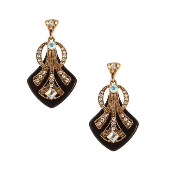 Deco Crystal Earrings - 2