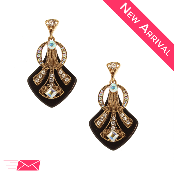 Deco Crystal Earrings - 1