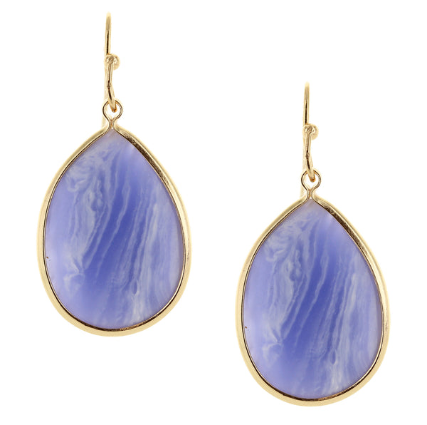 You Blue Me Away Natural Stone Earrings