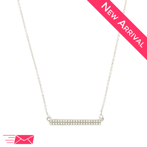 Pearl Bar Necklace - 1