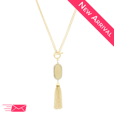 Shining Tassel Necklace - 1