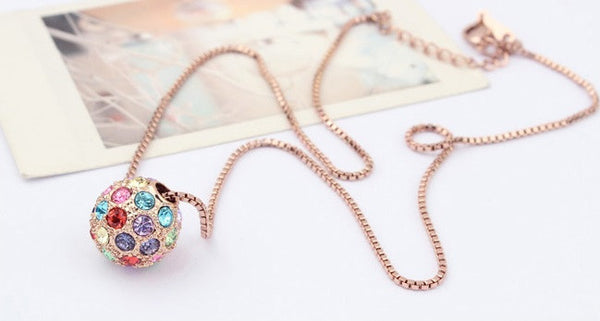 Gold Plated Ball Necklace - 2