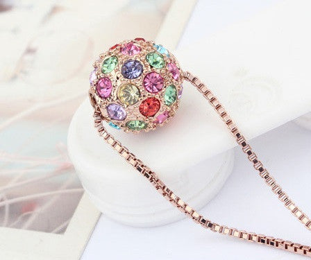 Gold Plated Ball Necklace - 3