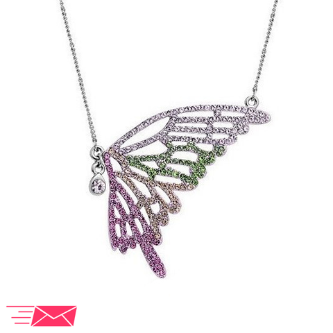 Colorful Butterfly Necklace - 1