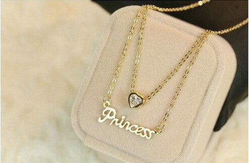 Gold Plated Princess Necklace - 2