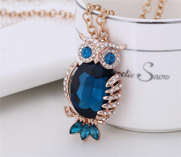 Rose Gold Plated Owl Necklace - 2