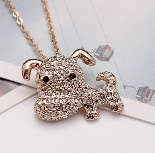 Cute Puppy Gold Plated Necklace - 2
