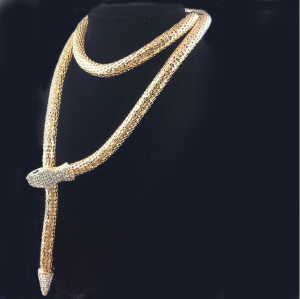 Luxury Long Snake Necklace - 3