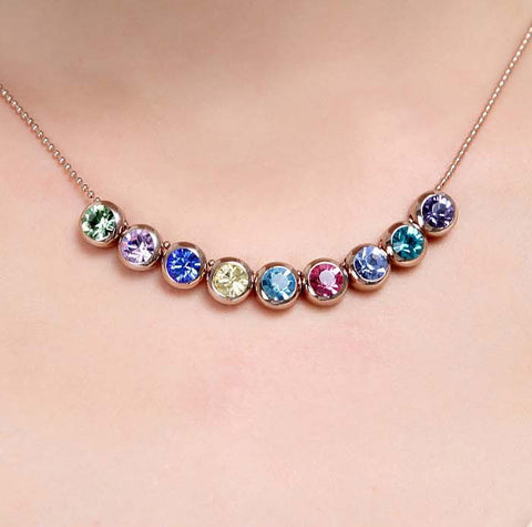 Gold Plated Colorful Necklace