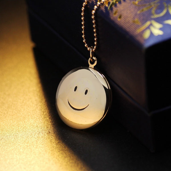 Smiling Face Locket Necklace - 3
