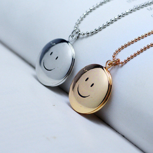 Smiling Face Locket Necklace - 1