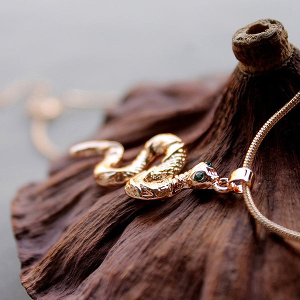 Gold Plated Snake Necklace - 2