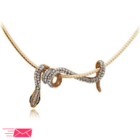 Snake Choker Necklace - 1
