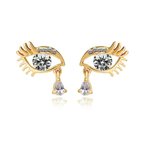 Teardrop Eye Earrings - 1