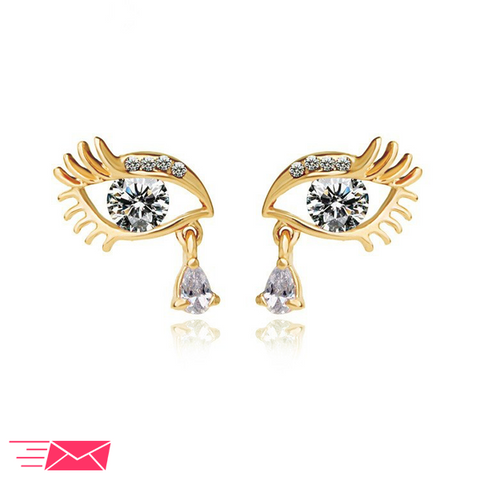 Teardrop Eye Earrings - 6