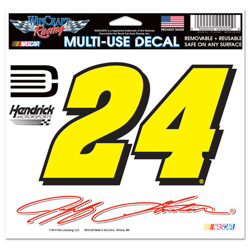 "Jeff Gordon Multi- Use 5"" x 6"" Decal"