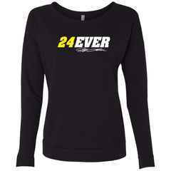 24Ever Car Logo Ladies' Scoop Neck Long Sleeve