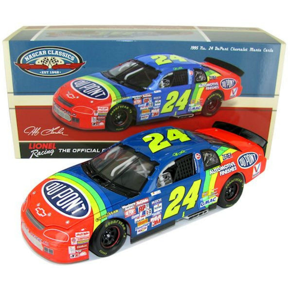 Jeff Gordon NASCAR Classics 1995 DuPont Darlington Raceway 1st Win 1:24 Die Cast