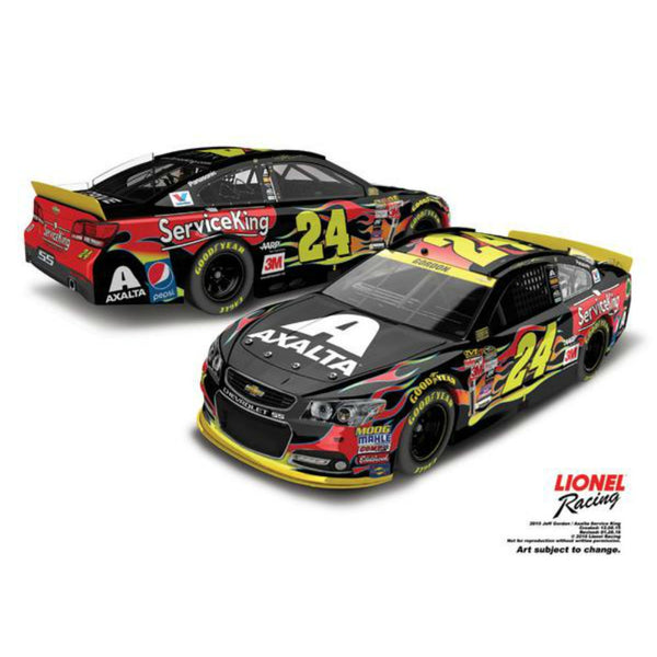 Jeff Gordon No. 24 Axalta/Service King 2015 NASCAR Sprint Cup Series 1:24 Diecast