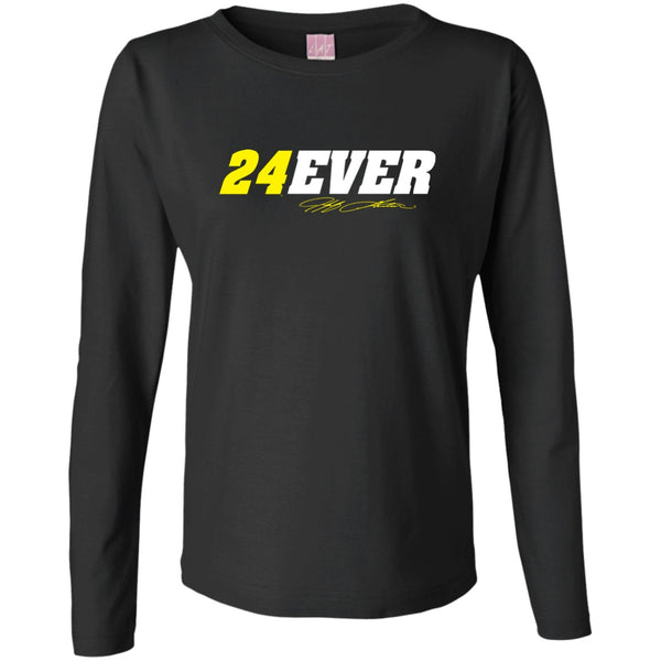 Jeff Gordon 24Ever Ladies' Long Sleeve T-Shirt