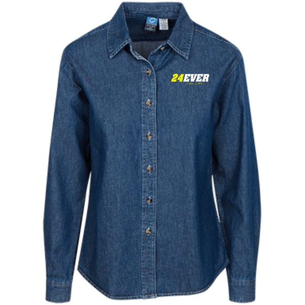 Jeff Gordon 24Ever Women's LS Denim Shirt