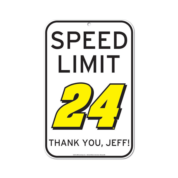 Jeff Gordon #24 Speed Limit Sign