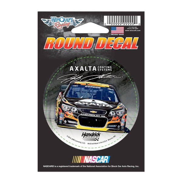 "Jeff Gordon Axalta Round 3"" Vinyl Decal"
