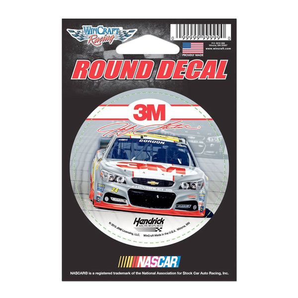 "Jeff Gordon 3M Round 3"" Vinyl Decal"