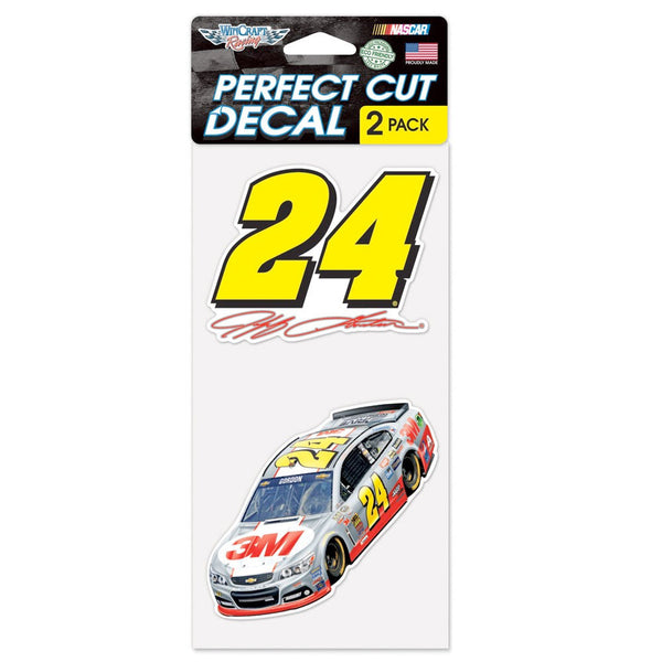 "Jeff Gordon 2 Pk 4"" x 4"" Perfect Cut Decal"
