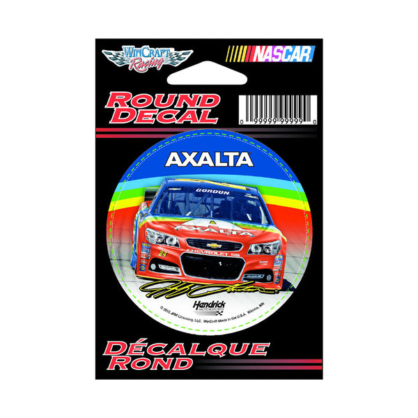 "Jeff Gordon 2015 Axalta Rainbow 3"" Round Decal"