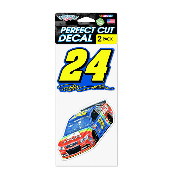 Jeff Gordon 2015 Axalta Rainbow 2pk 4 x 8 Perfect Decal Set
