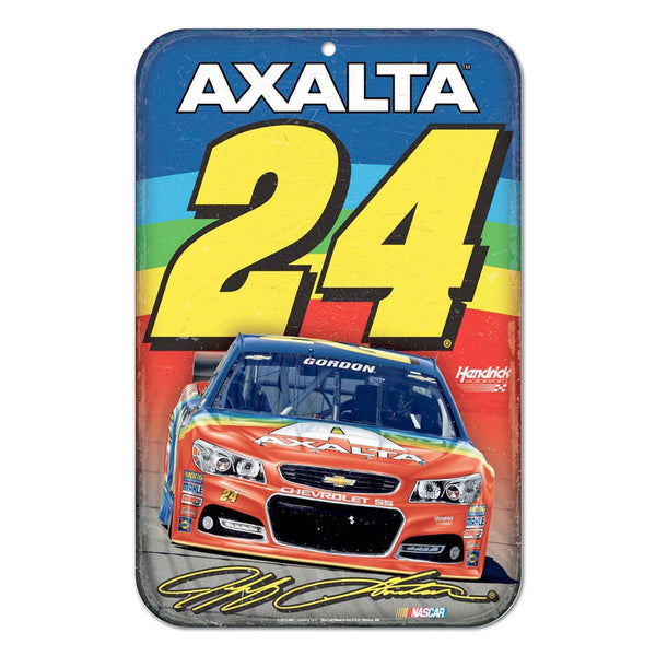 Jeff Gordon 2015 Axalta Rainbow Poly Sign