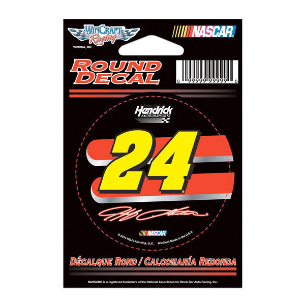 "Jeff Gordon #24 Round 3"" Vinyl Decal"