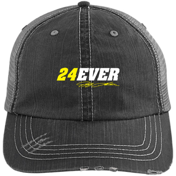 Jeff Gordon 24Ever Distressed Unstructured Trucker Cap