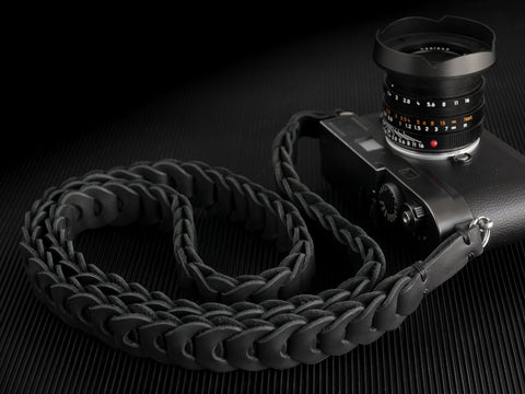 Rock n Roll , Black is Black - Tie Her Up camera straps - 1