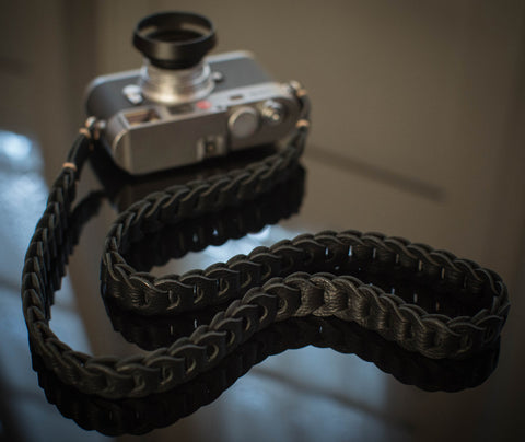 Rock n Roll Leather straps - Tie Her Up camera straps - 1