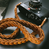 Rock n Roll Leather straps - Tie Her Up camera straps - 12