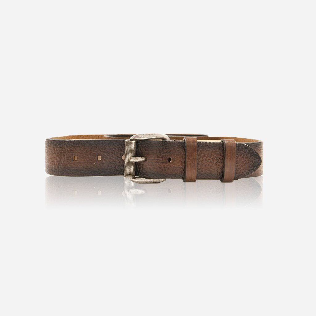 Classic 2 Tone Leather belt, Brown - Jekyll and Hide SA